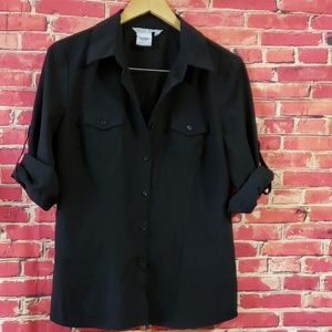 Fred David Women's Black Blouse Size Large